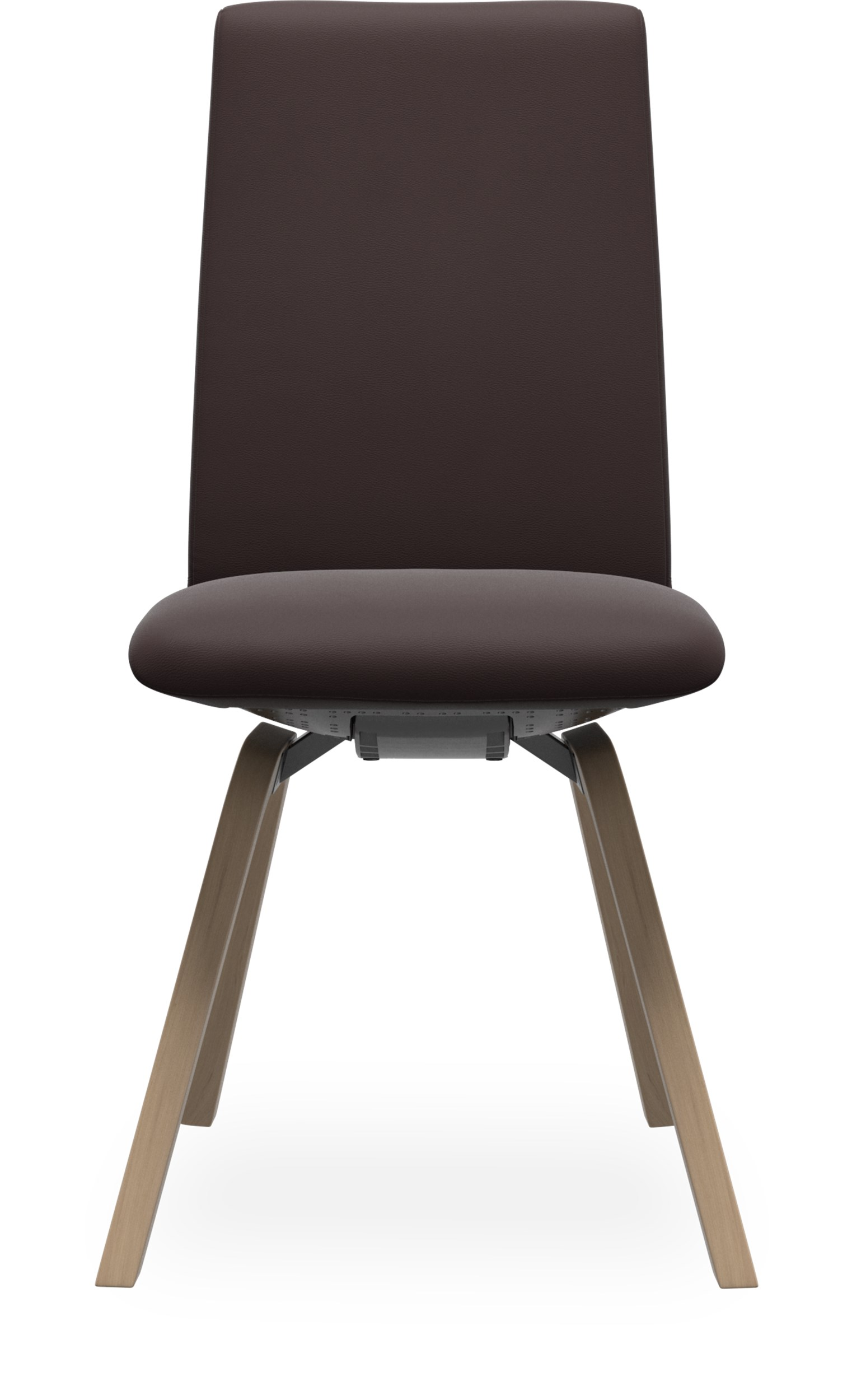Stressless M D200 Laurel low matstol - Paloma 9434 chocolate läder och stomme i lackerat ekfaner