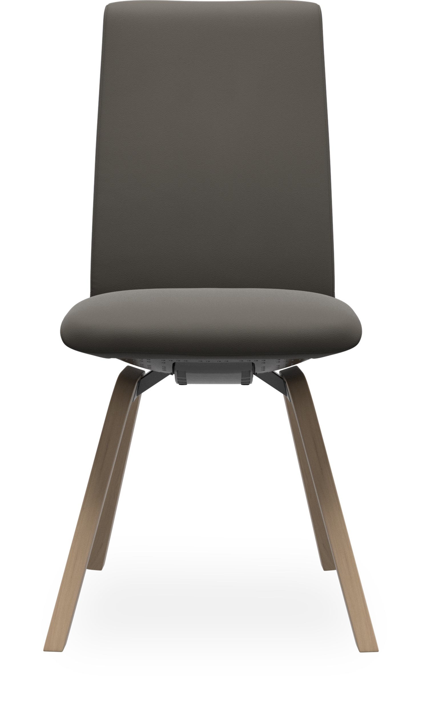 Stressless M D200 Laurel low matstol - Paloma 9416 Metal Grey läder och stomme i lackerat ekfaner