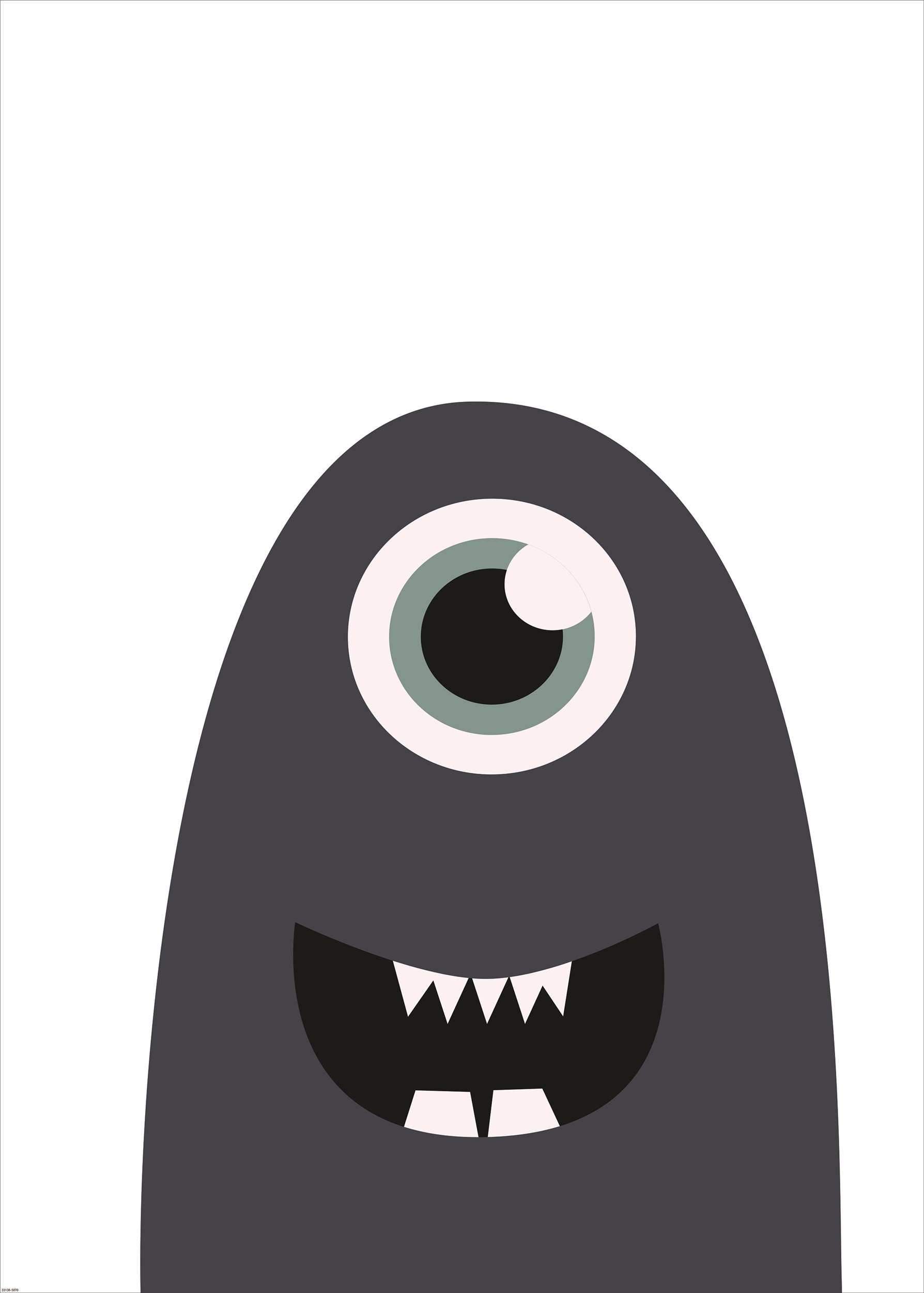 ARTPRINT 55 affisch utan ram 50 x 70 cm - Moony monster