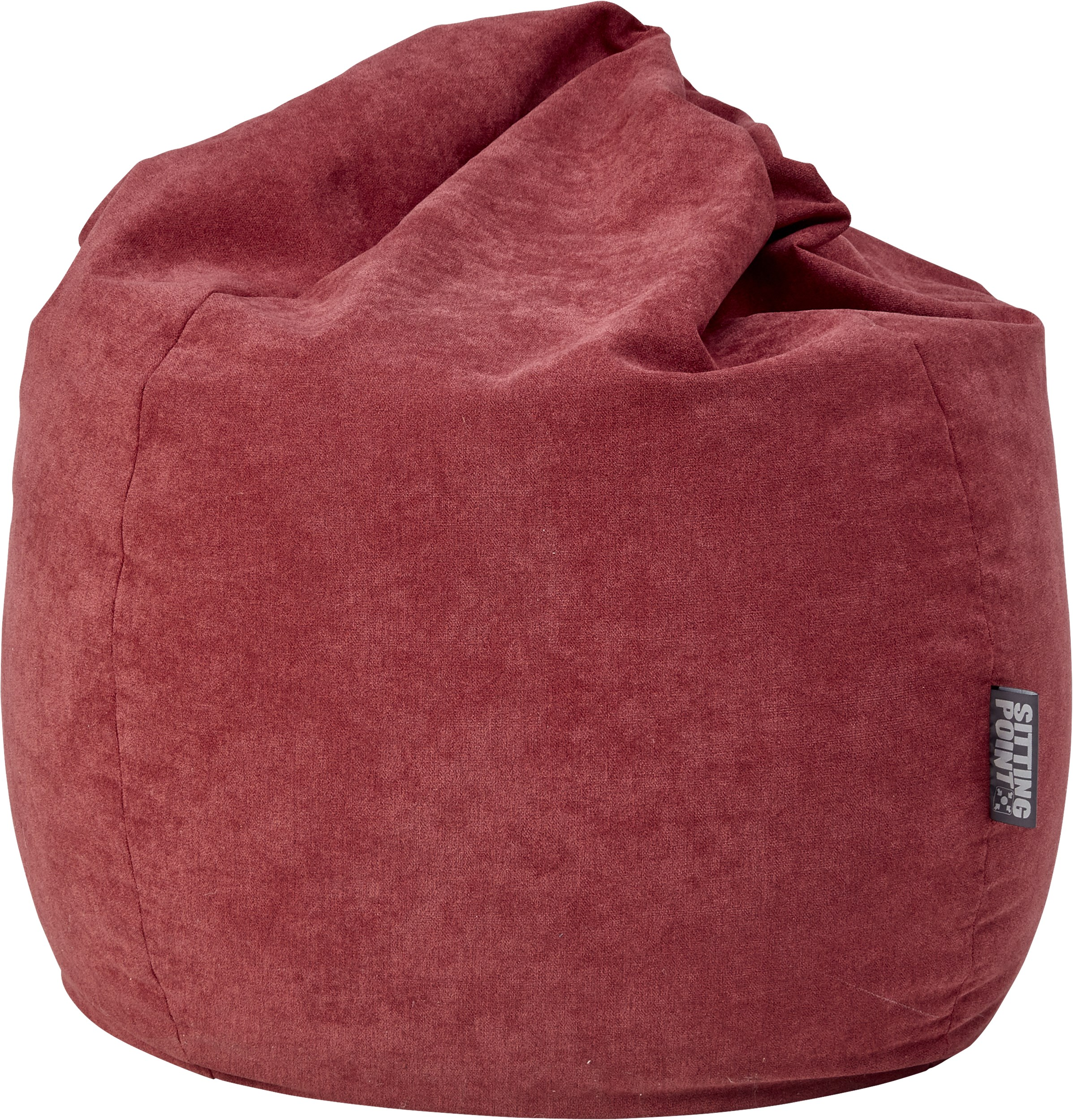 Lumini Sittsäck - Polyestervelour i barn red och 100 % EPS-kulor