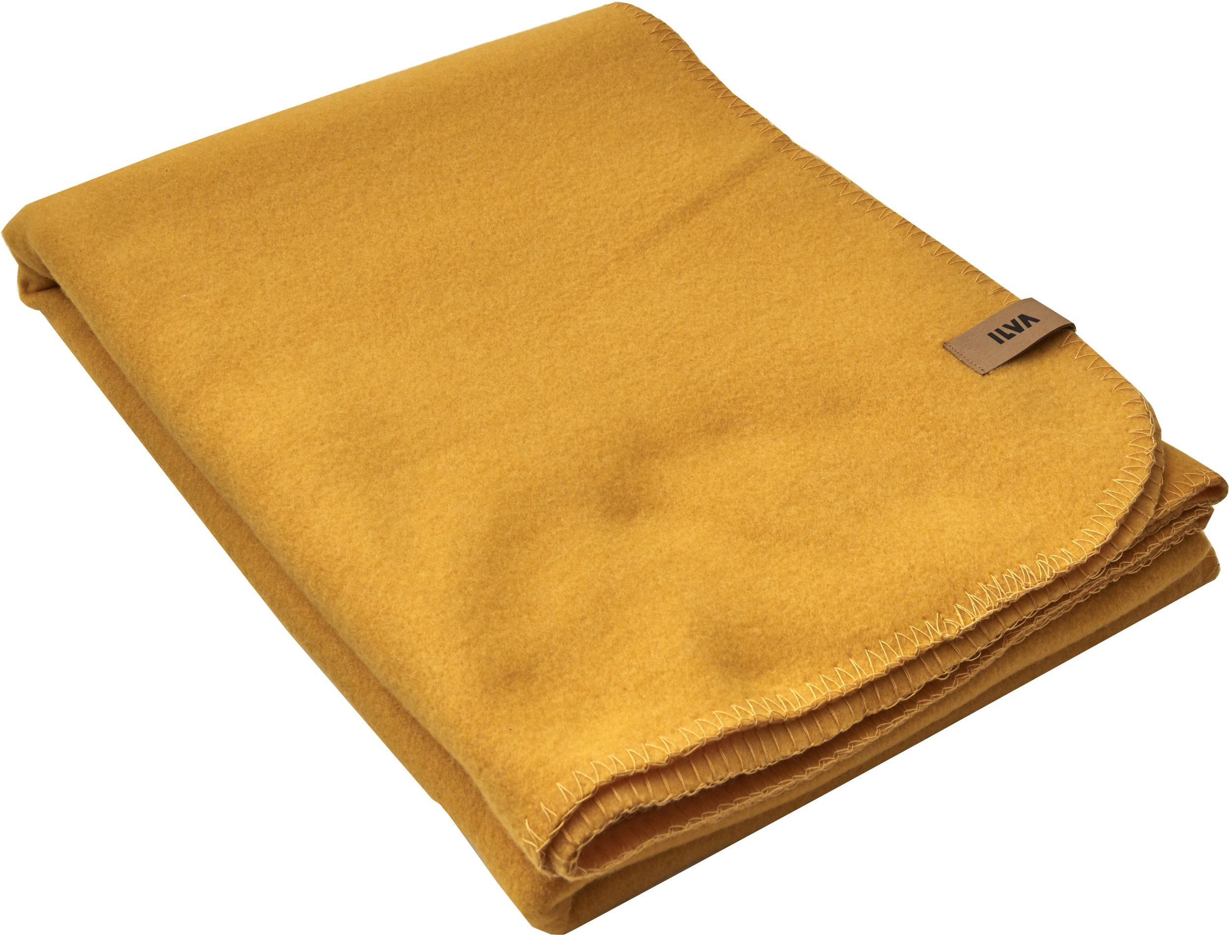 Fleece Pläd 140 x 200 cm - Mustard Yellow polyester