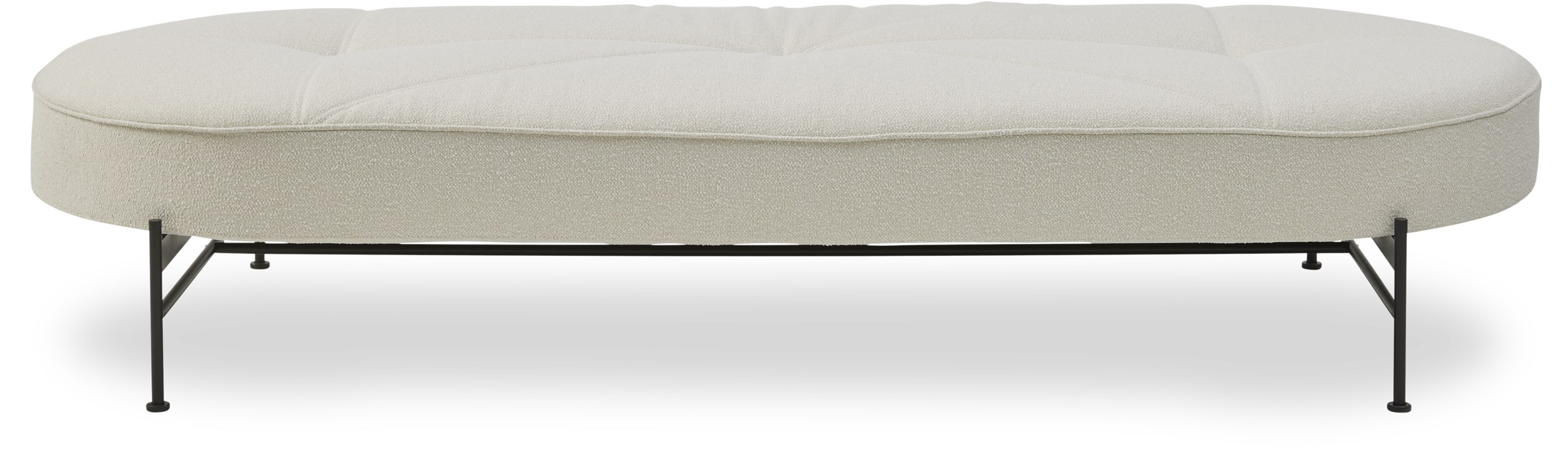 Innovation Living - Linna Daybed - Bouclé 531 Off white och stomme i svart metall