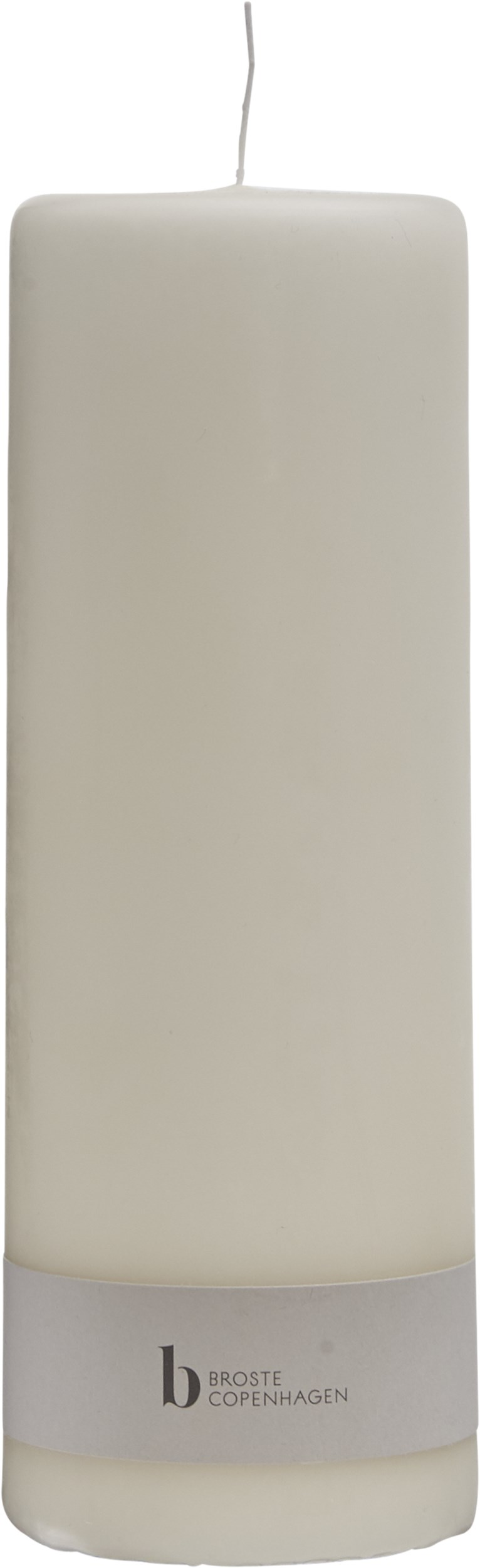 Candle Blockljus 20 x 7 cm - Off-white paraffin