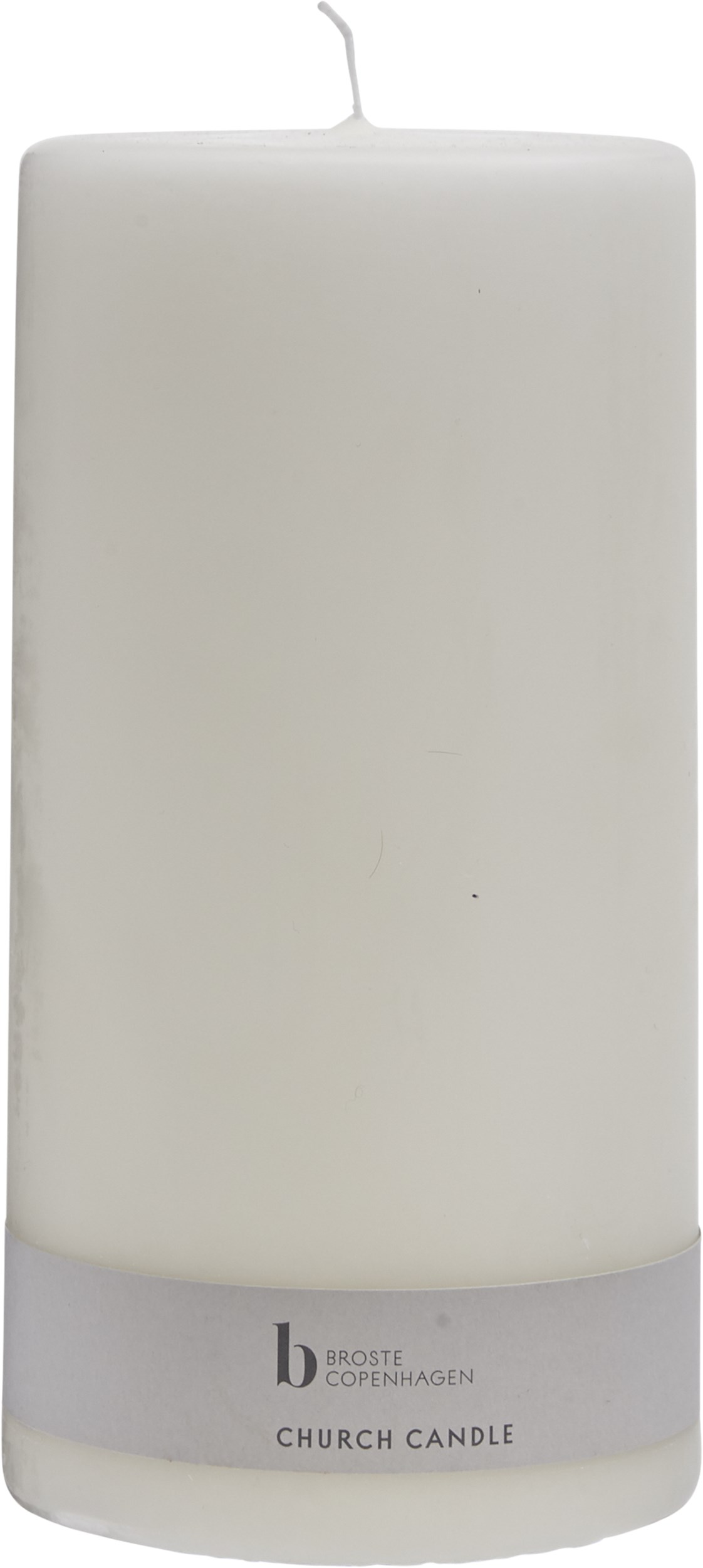 Alter Blockljus 20 x 10 cm - Off-white paraffin
