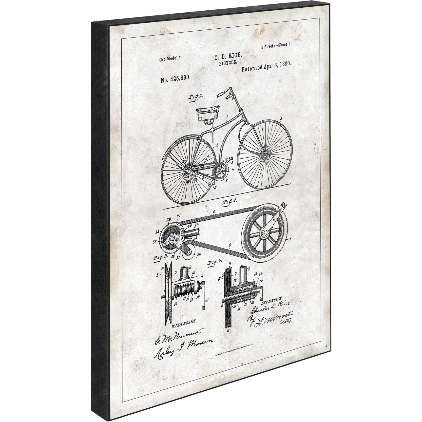 Blocks Skylt 15 x 21 x 2 cm - Patent - Bycicle