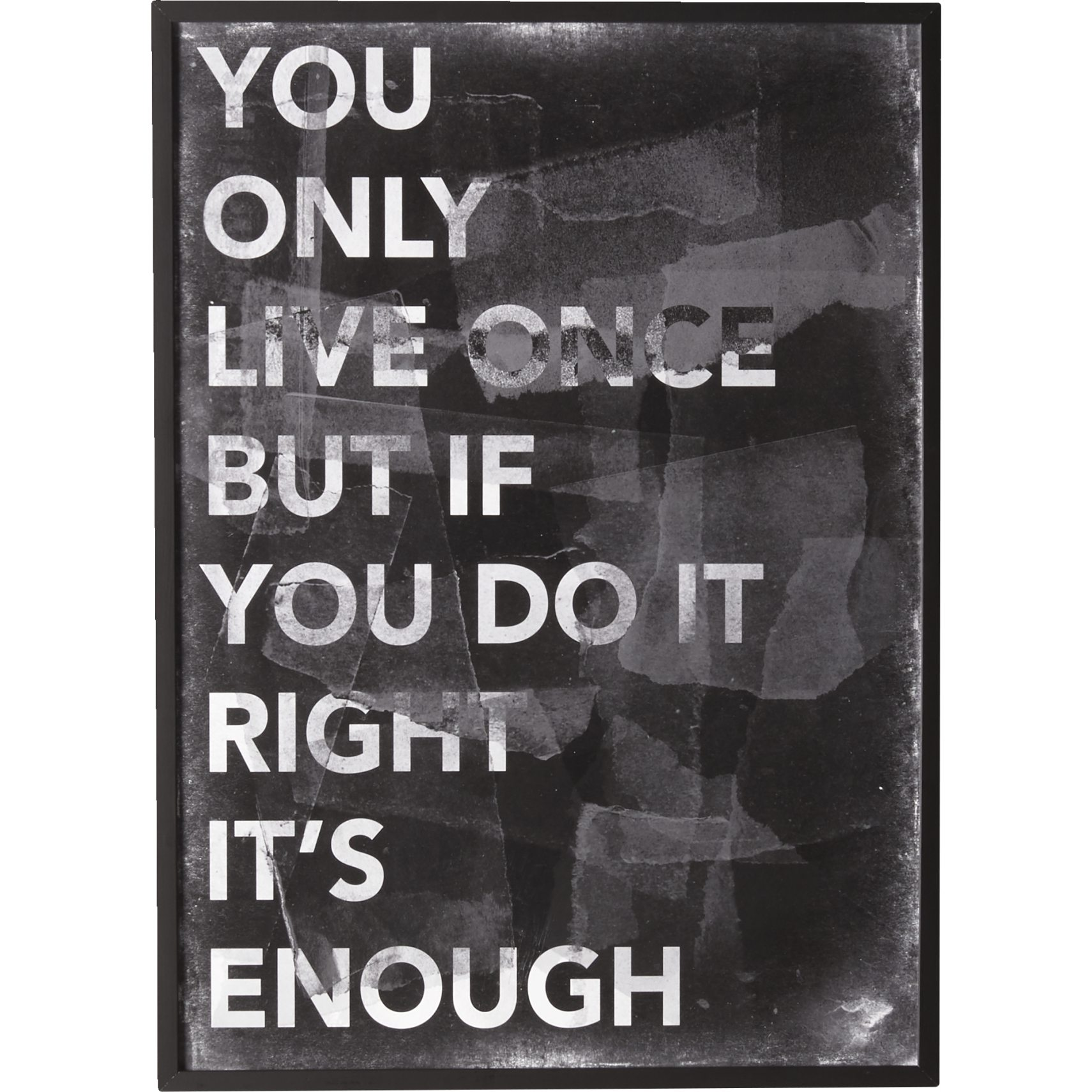 You Only Live Once Affisch 50 x 70 cm -
