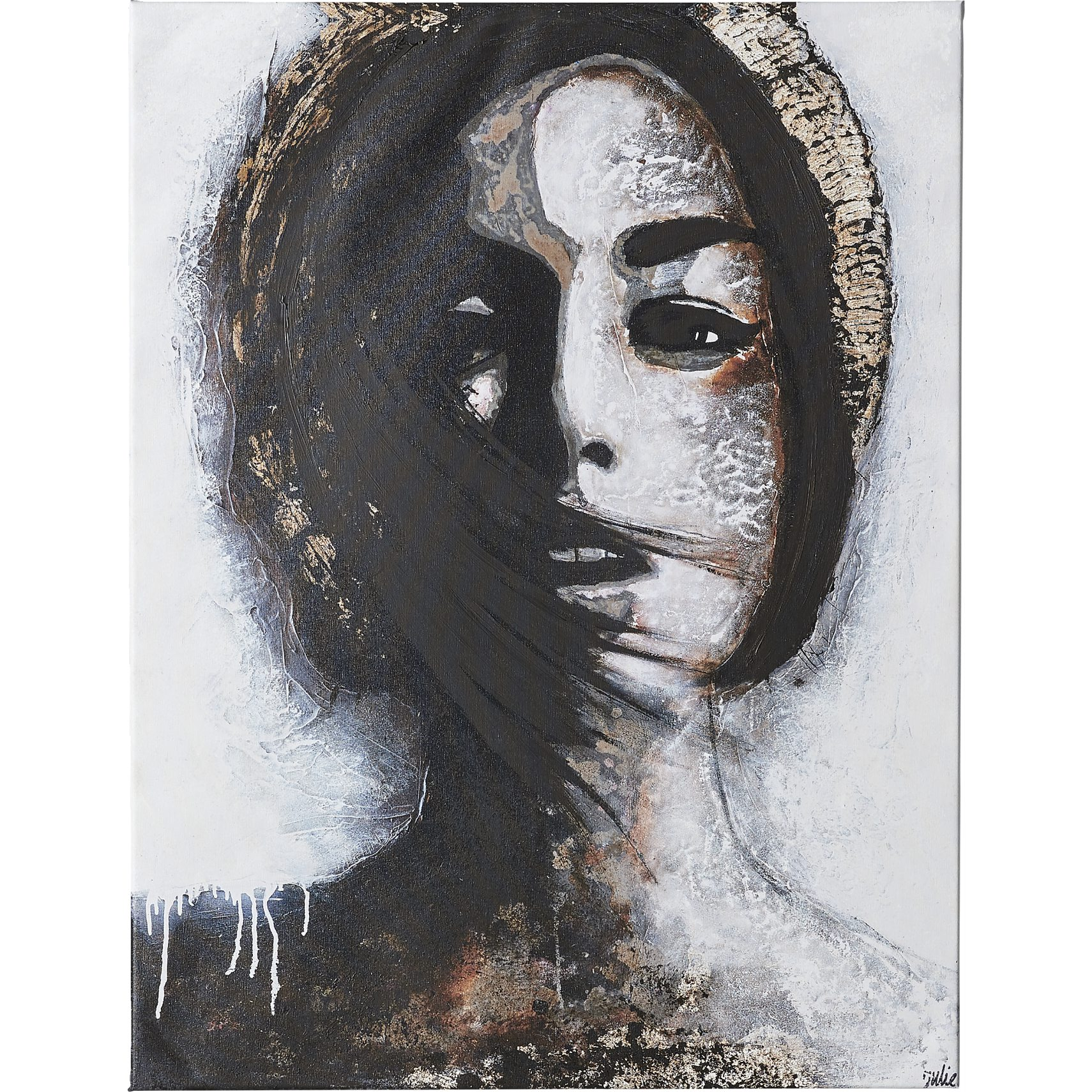 Golden Madonna Mixed media bild 90 x 120 cm -