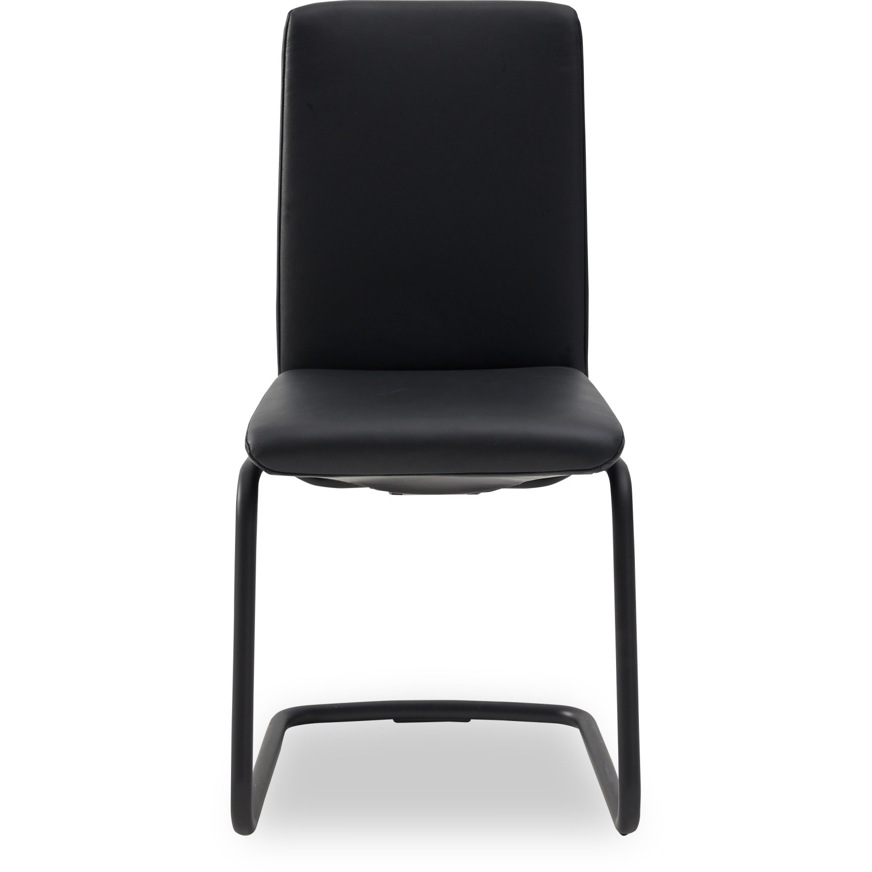 Stressless D400 Laurel low matstol - Paloma 9419 black läder och stomme i matt, svartlackerad metall