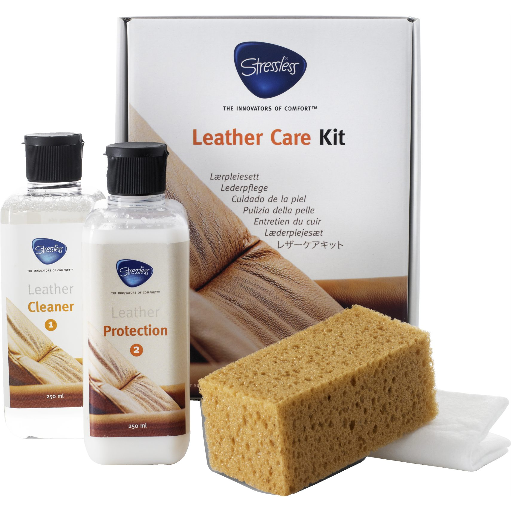 Stressless Lädervårdsset - Leather care kit och 250 milliliter