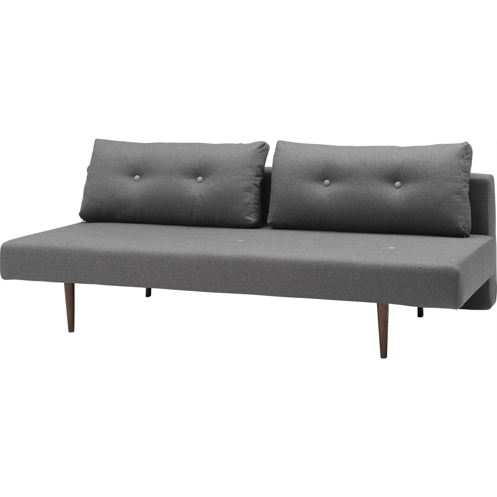 Innovation Living - Recast Plus Bäddsoffa - Flashtex 216 Dark Grey och mörkt trä