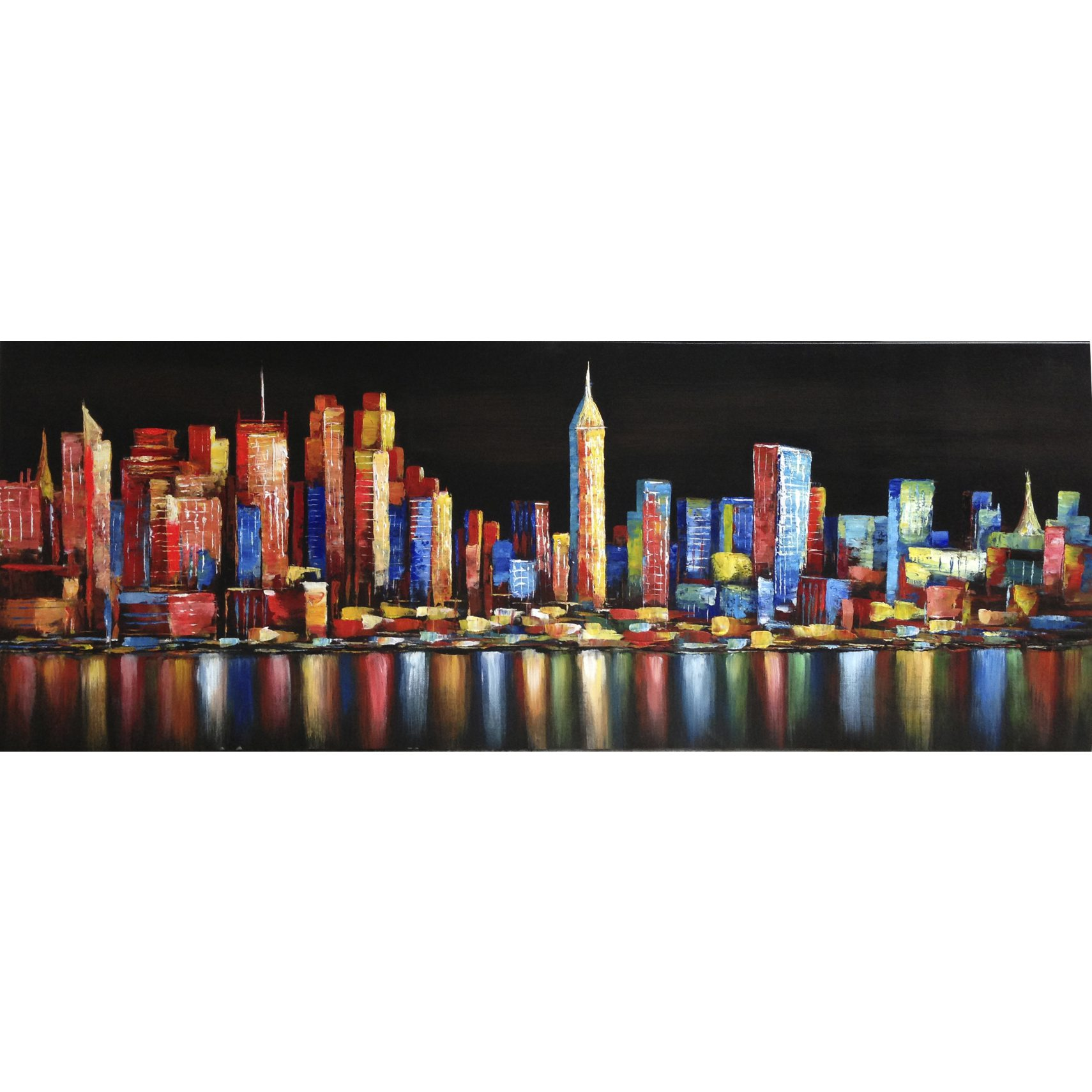 CITYSCAPE NIGHT Canvastavla 160 x 70 x 3 cm -