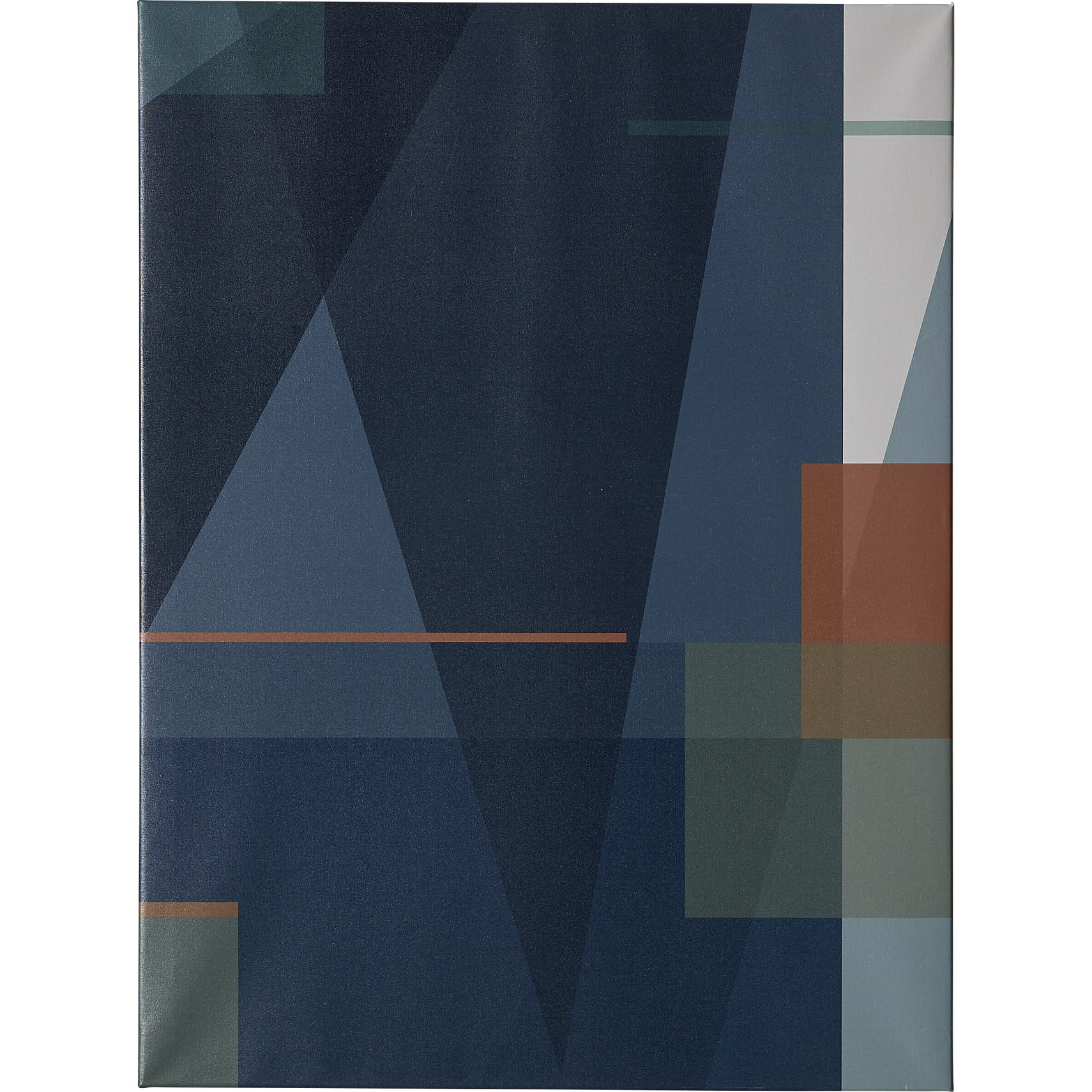 Blue Geometric canvasprint 90 x 12 x 3 cm - Blank